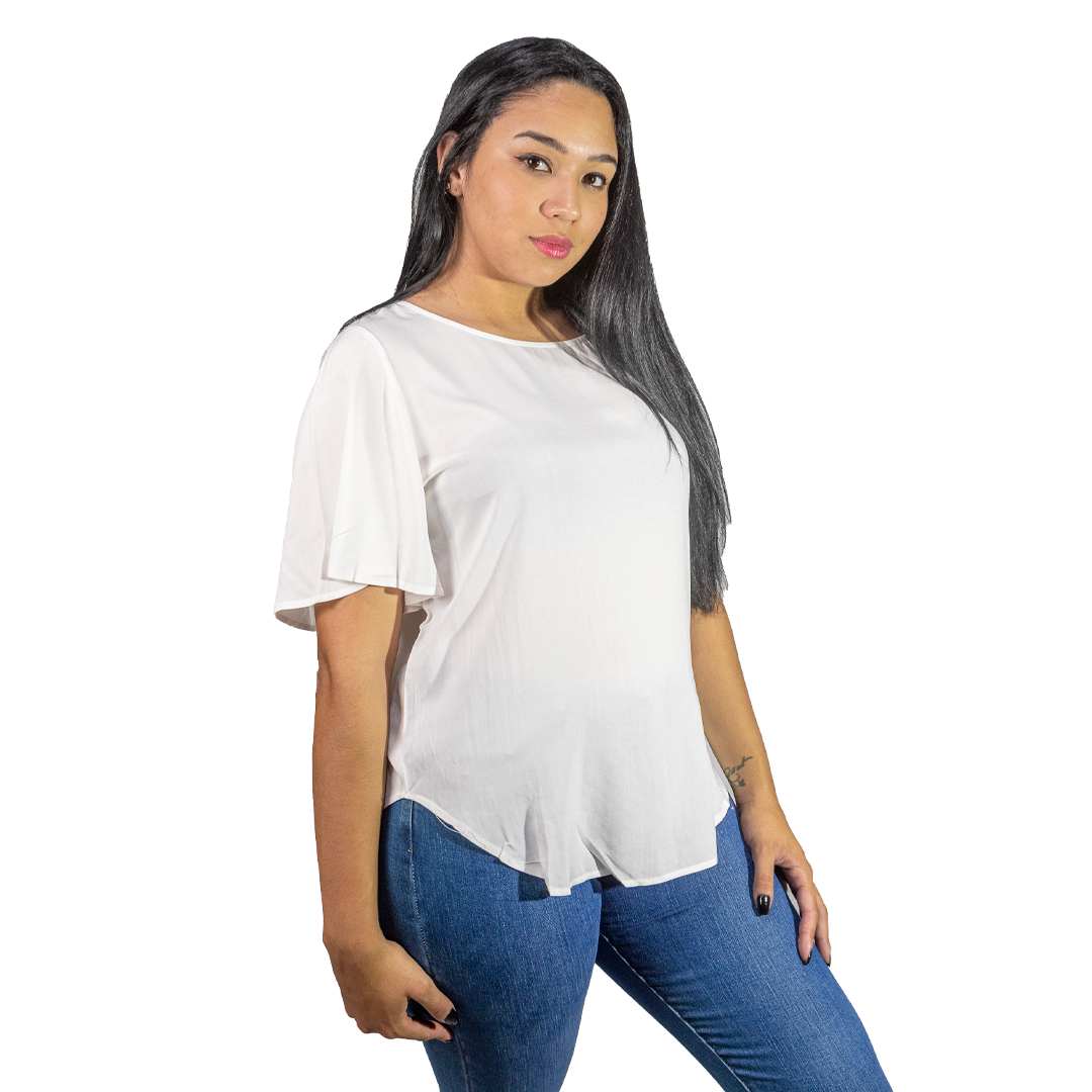 Blusa Dama Blanco Wanna BWS-288