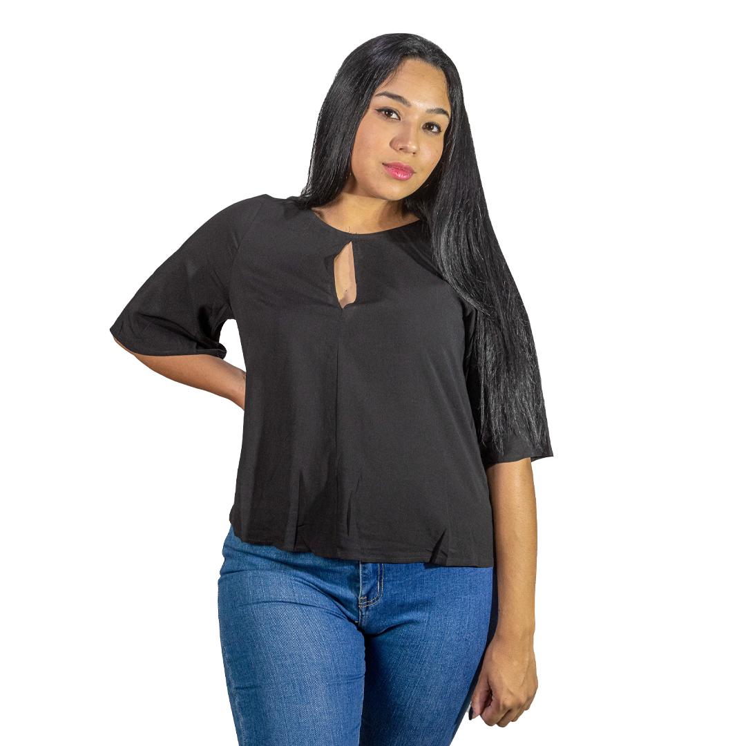 Blusa Dama Negro Wanna BWS-289