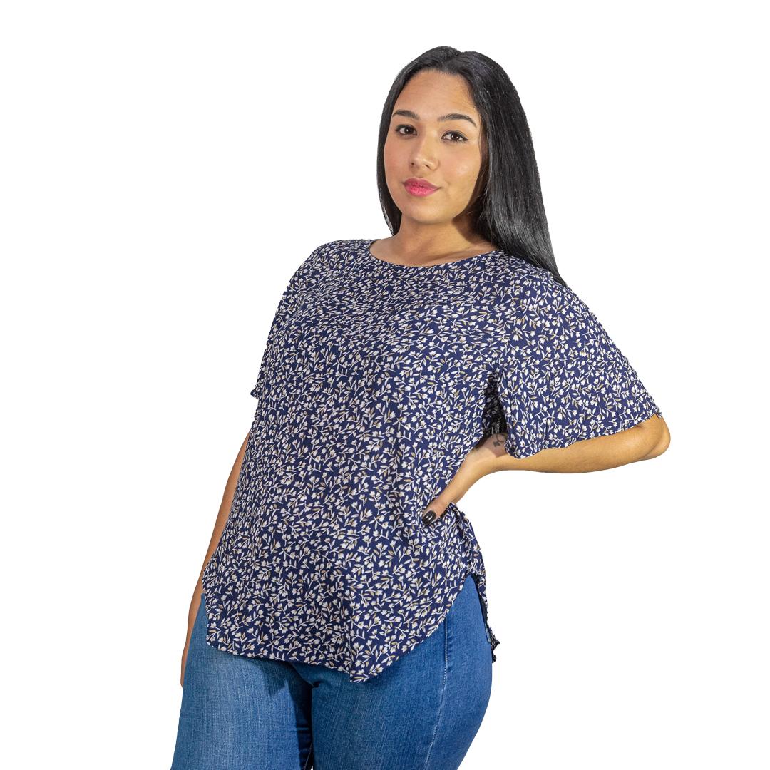 Blusa Dama Violeta Wanna BWS-290