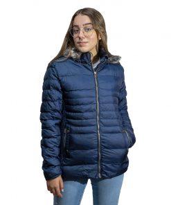 Campera Dama Nylon Azul Wanna BDL-211