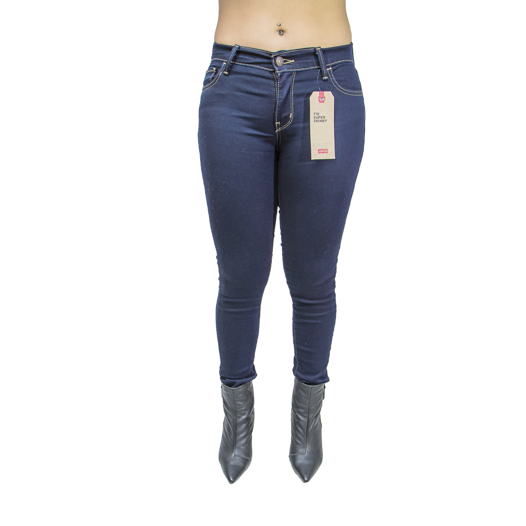 Jeans Damas Azul Levi´s 710 Super Skinny LEV-D-28