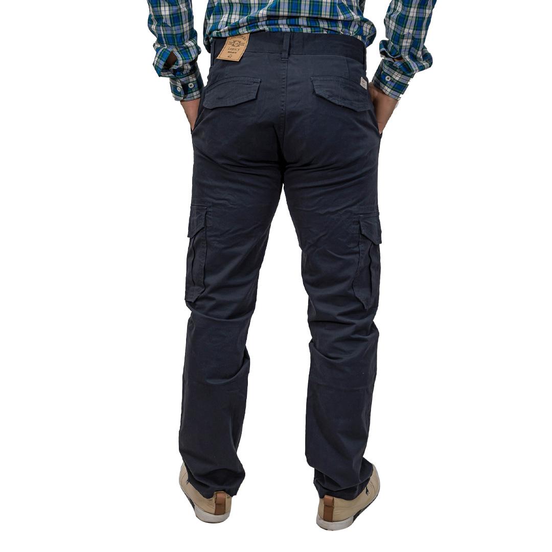 Pantalón Hombre Cargo Azul Gabardina Legacy PAN-H-9
