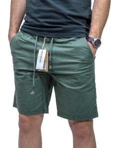 Bermudas Hombre Clásica con Elástico Verde Legacy SHO-H-152