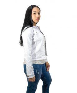 Chaqueta Dama en Jeans Blanco Wanna. CH-01